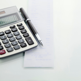 Calculator With pen and Shopping list